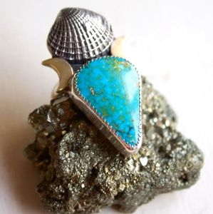 One of a kind genuine turquoise ring